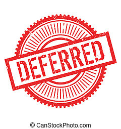 Deferred stamp. Grunge design with dust scratches. Effects can be easily removed for a clean, crisp look. Color is easily changed.
