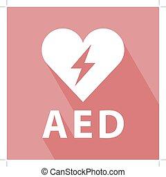 defibrillator, ikone