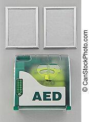 Defibrillator - Aed defibrillator in the box at wall