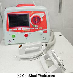 defibrillator - The image of a defibrillator
