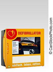 Defibrillator - A survival box with a defibrillator....
