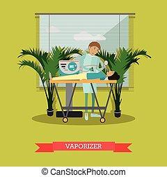 Defibrillator vector illustration in flat style - Vector...