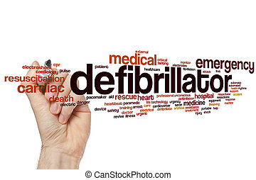 Defibrillator word cloud concept