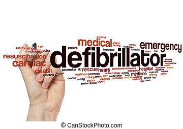 Defibrillator word cloud concept