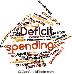 Deficit spending - Abstract word cloud for Deficit spending...