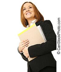 defilovat, manželka, carrying, povolání, šťastný