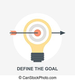 Define the Goal - Vector illustration of define the goal ...