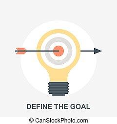 Vector illustration of define the goal flat design concept.