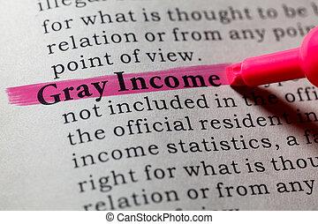 definição, de, cinzento, renda
