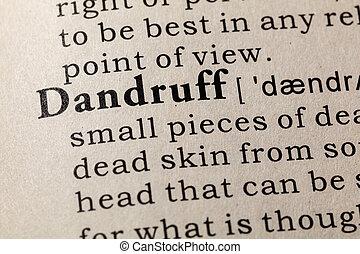 definição, de, dandruff