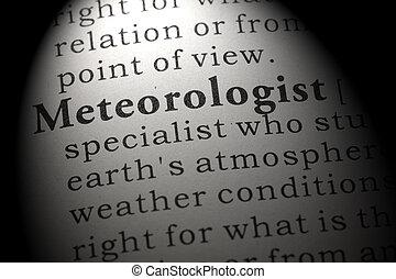 definição, de, meteorologist