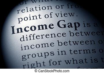 definição, de, renda, lacuna