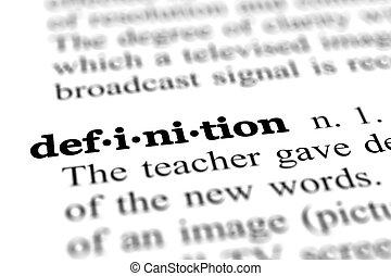definição, palavra, dicionário
