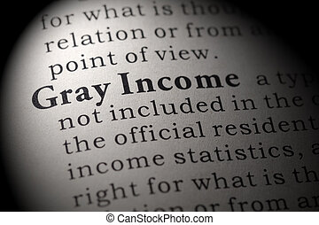 definição, renda, cinzento