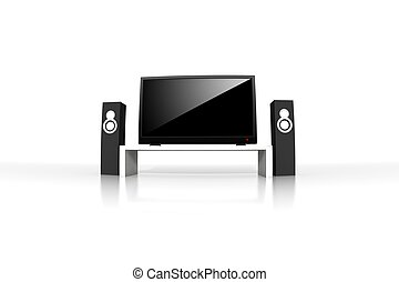 definição, televisão, isolado, alto