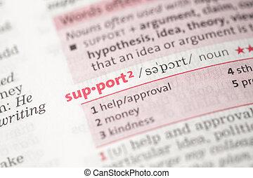 definición, apoyo