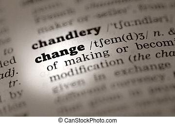 definición, change-dictionary