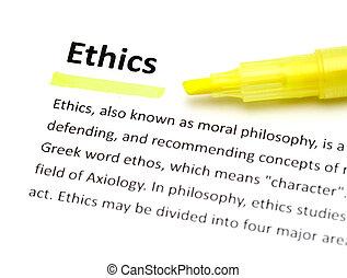 definición, de, éticas