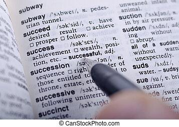 definición, de, éxito