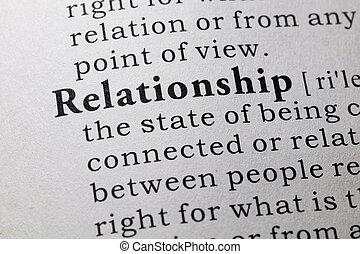 definición, de, relación