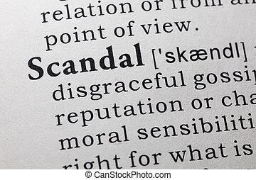 definición, escándalo