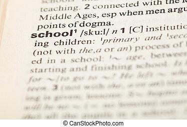 definición, escuela