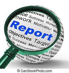 definición, estadística, financ, informe sobre la marcha de ...
