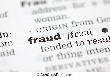 definición, fraude