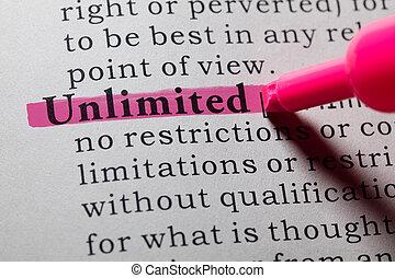 definición, ilimitado