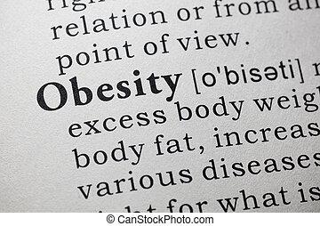 definición, obesidad