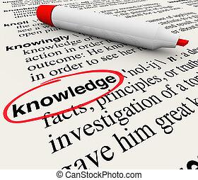 definición, palabra, conocimiento, diccionario, cirlced