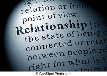 definición, relación