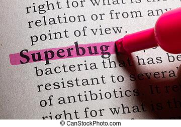 definición, superbug