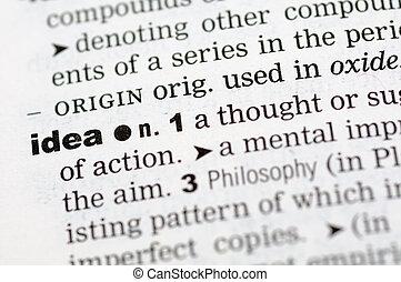 definicja, idea, słownik