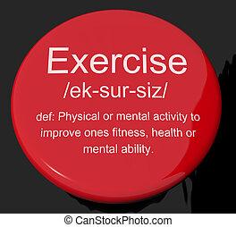 definicja, pracujący, guzik, działalność, stosowność, widać, ruch, poza