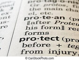 definiert, schützen