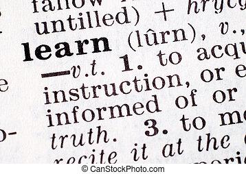 definitie, leren