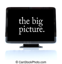 definitie, televisie, afbeelding, groot, -, hoog, hdtv