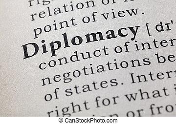 definitie, van, diplomatie