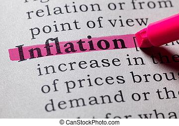definitie, van, inflatie
