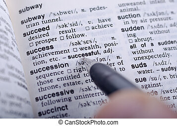 definitie, van, succes