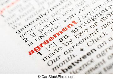 definitie, woord, overeenkomst