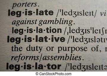 definition, i, den, glose, lovgivende
