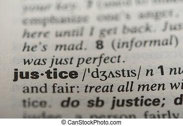definition, i, den, glose, retfærdighed