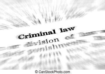 definition, i, forbryder, lov