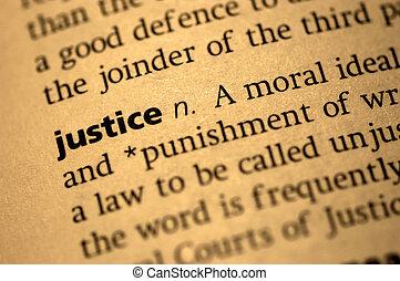 definition, i, retfærdighed