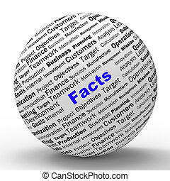 definition, medel, visdom, glob, sanning, fakta