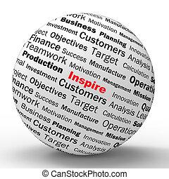 definition, motivation, eingeben, mittel, positivity, kugelförmig