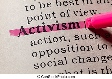 definition of activism - Fake Dictionary, Dictionary ...