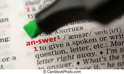 Definition of answer